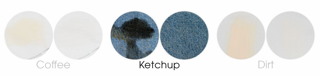 ketchup on denim before and after